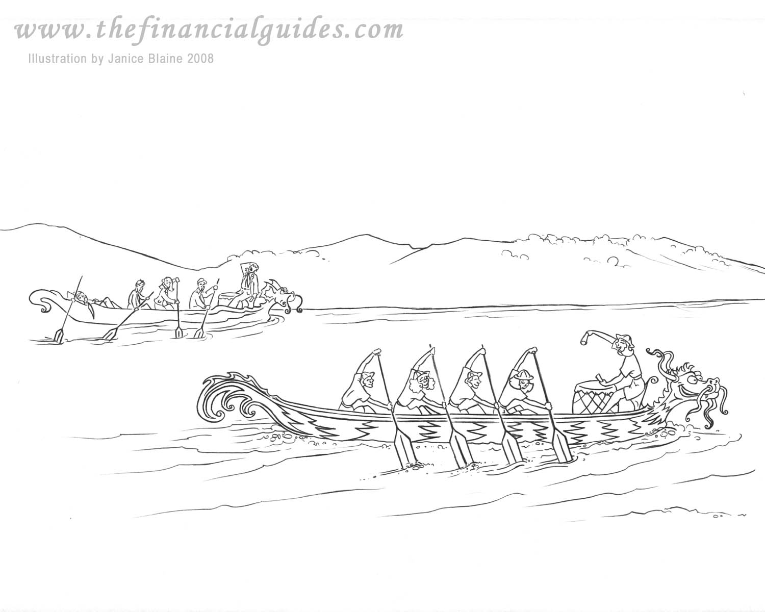 Children 39 s financial books activities page for Dragon boat coloring pages